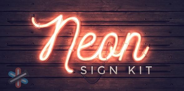 دانلود پروژه نئون افتر افکت | Videohive Neon Sign Kit v2.1 1