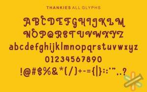 دانلود فونت Hello Thankies font