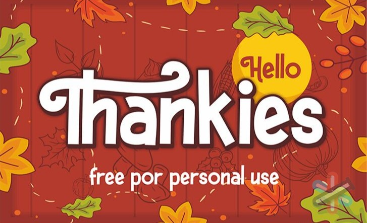 دانلود فونت Hello Thankies font 1