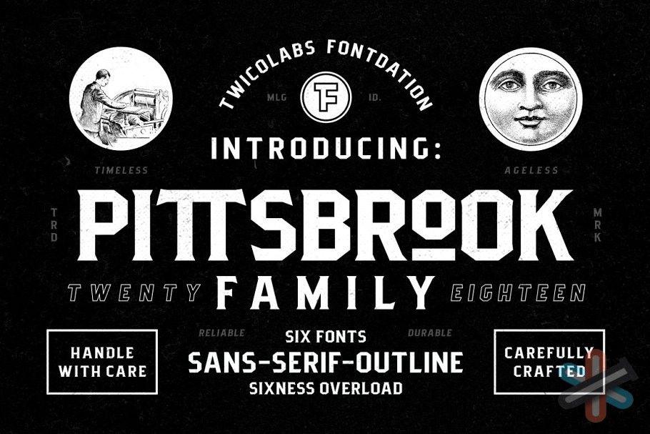 دانلود فونت Pittsbrook Family