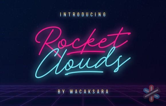 دانلود فونت Rocket Clouds