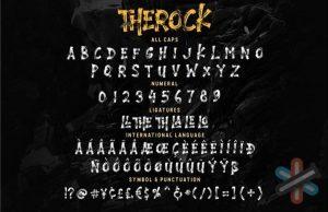 دانلود فونت THEROCK font