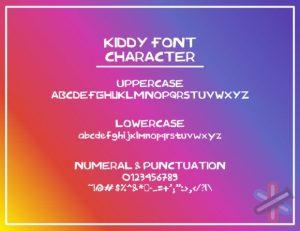 دانلود فونت Kiddy Font
