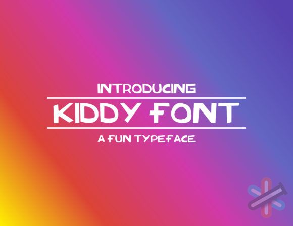 دانلود فونت Kiddy Font 1