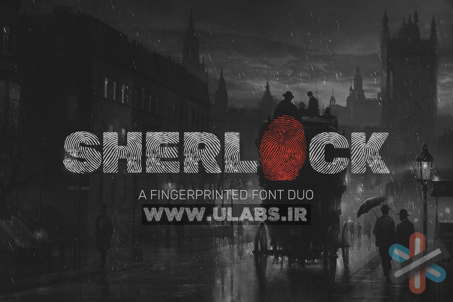 دانلود فونت اثر انگشت Sherlock Font