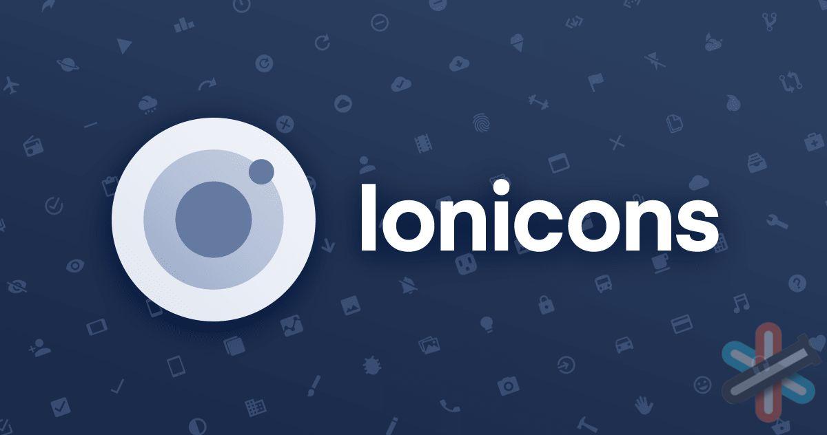 دانلود فونت آیکون ionicons 1