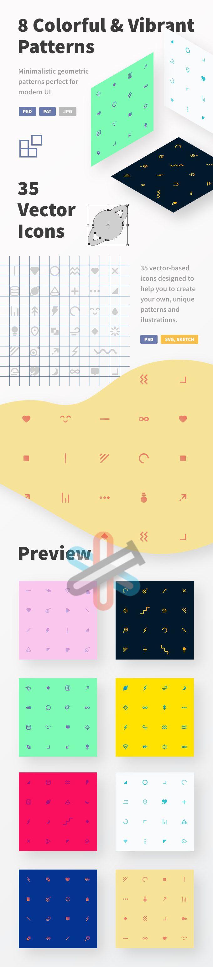الگوهای آیکون و رابط کاربری Paticons