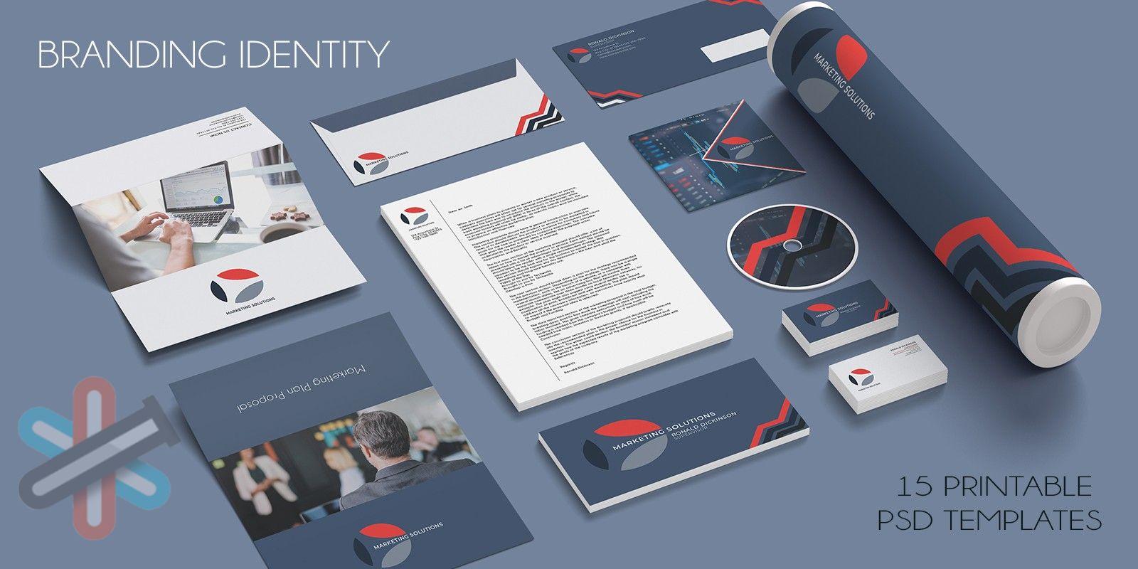 لایه باز هویت نام برند بازاریابی برای فتوشاپ 1
