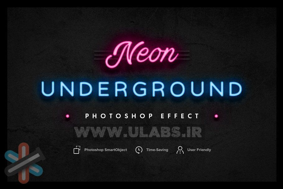 دانلود لایه باز Neon Underground Photoshop Effect 1