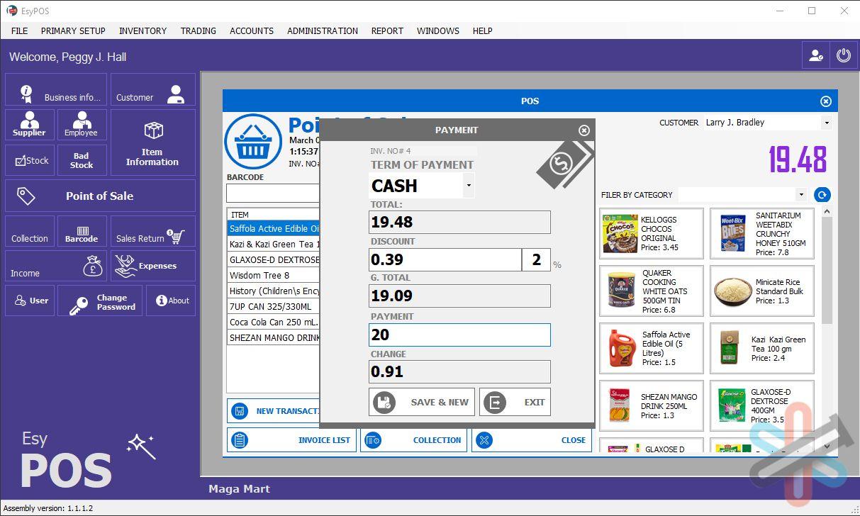 نرم افزار EsyPOS برای ویندوز – پایانه فروش محصولات + سورس