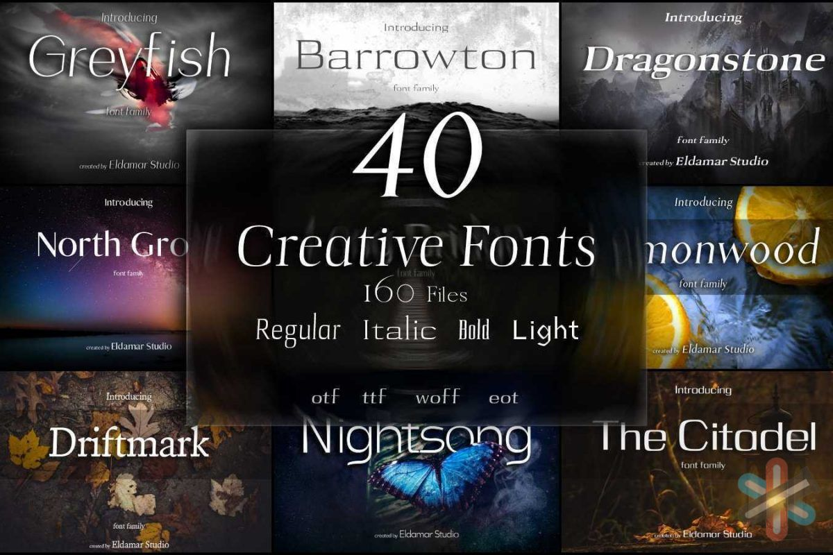 دانلود مجموعه ۴۰ فونت خلاقانه 1
