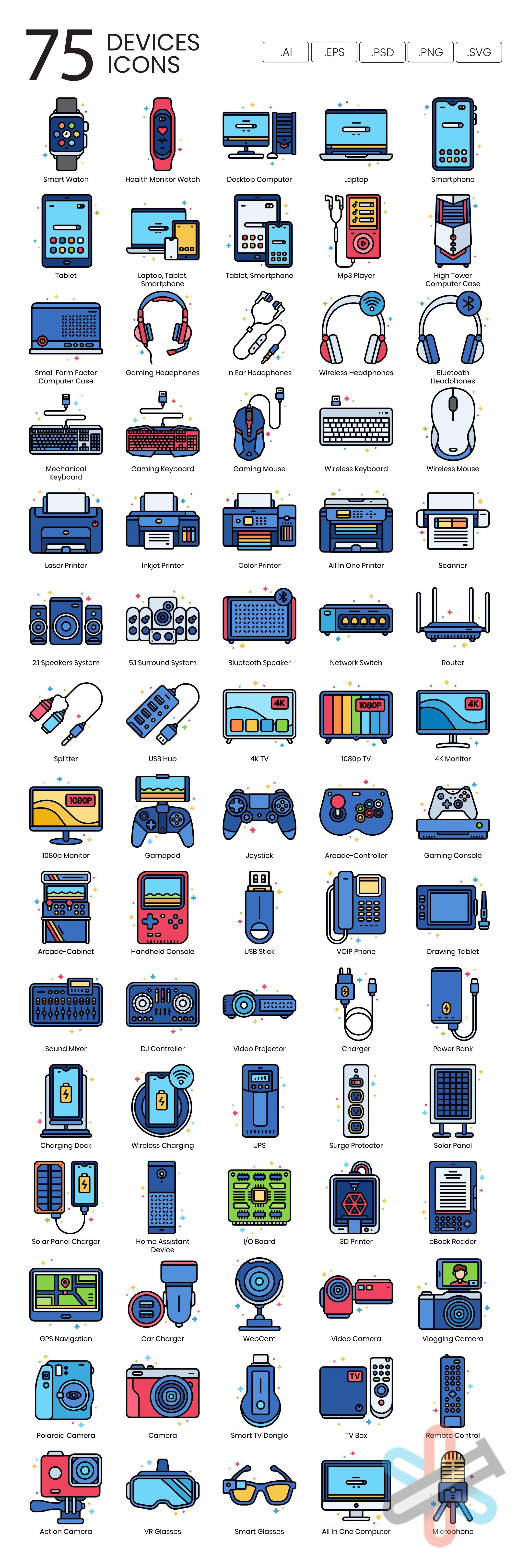 دانلود مجموعه آیکون های دستگاه – Devices Icon