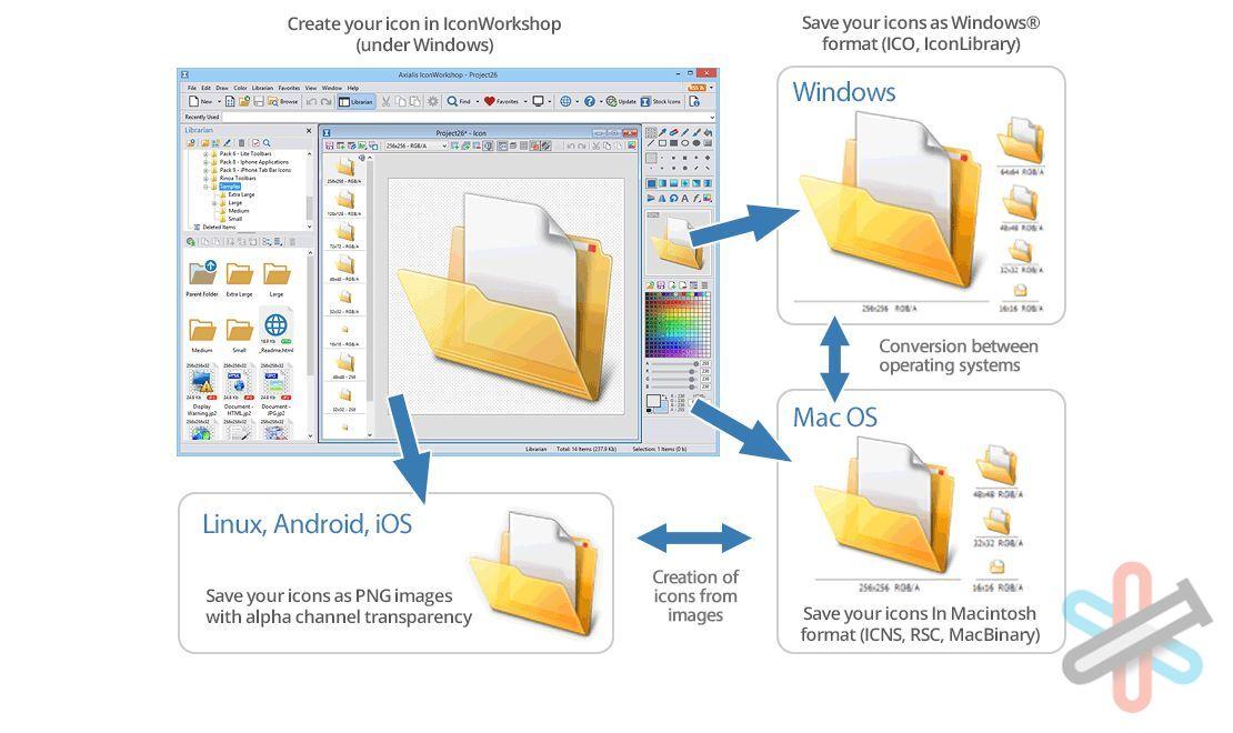 دانلود نرم افزار Axialis IconWorkshop Pro v6.9.1.0 – طراحی و مدیریت آیکون