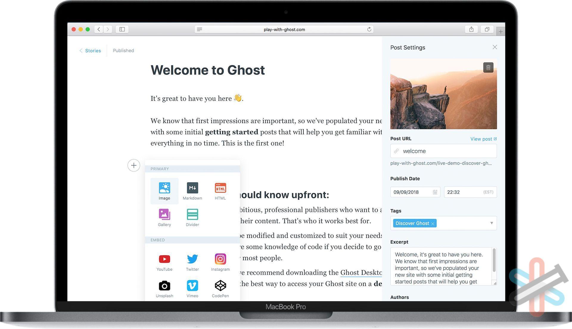 سیستم مدیریت محتوای گوست – Ghost CMS